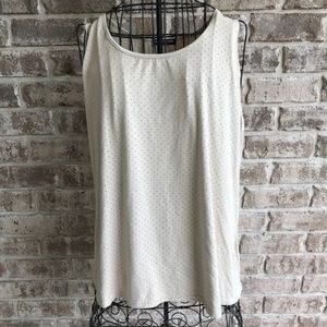 Cha Cha Vente Sleeveless Top Faux Suede Beige  New